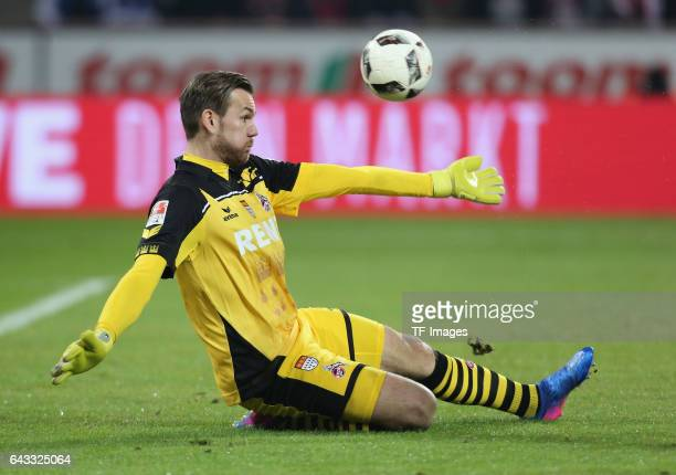 Goalkeeper Thomas Kessler of Cologne in action during the Bundesliga match between 1 FC Koeln and FC Schalke 04 at RheinEnergieStadion on February 19...
