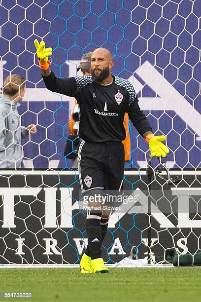 Goalkeeper Tim Howard of Colorado Rapids during the match vs New York City FC at Yankee Stadium on July 30 2016 in New York City New York City FC...