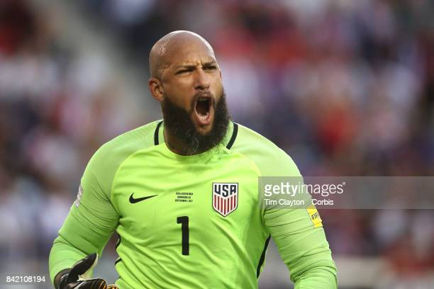 Goalkeeper Tim Howard of the United States during the United States Vs Costa Rica CONCACAF International World Cup qualifying match at Red Bull Arena...
