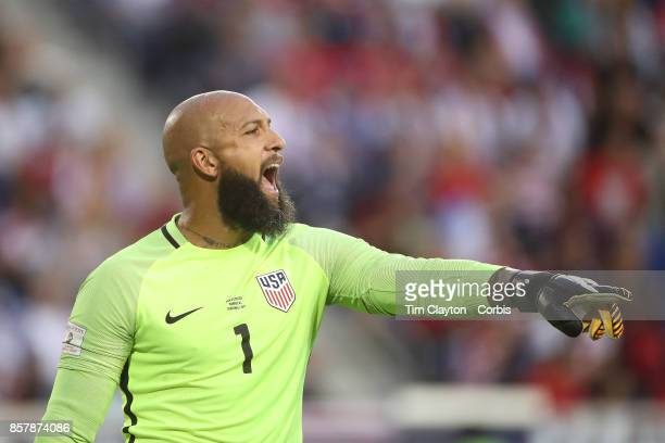 Goalkeeper Tim Howard of the United States in action during the United States Vs Costa Rica CONCACAF International World Cup qualifying match at Red...
