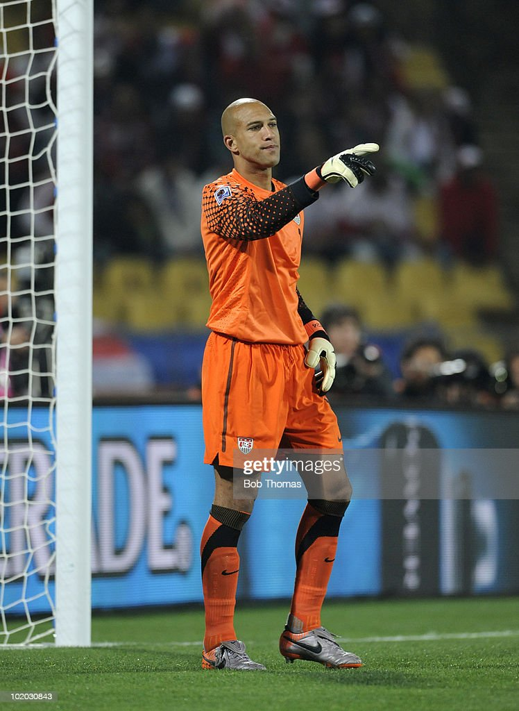 Goalkeeper Tim Howard of the USA during the 2010 FIFA World Cup South Africa Group C match between England and USA at the Royal Bafokeng Stadium on June 12, 2010 in Rustenburg, South Africa. The match was drawn 1-1.