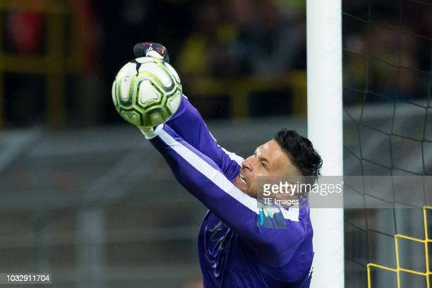 Goalkeeper Tim Wiese of Roman and Friends controls the ball during the Roman Weidenfeller Farewell Match between BVB Allstars and Roman and Friends...