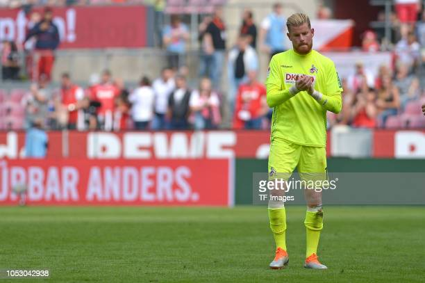 Goalkeeper Timo Horn of Koeln looks dejected'tafter the Second Bundesliga match between 1 FC Koeln and SC Paderborn 07 on September 16 2018 in...