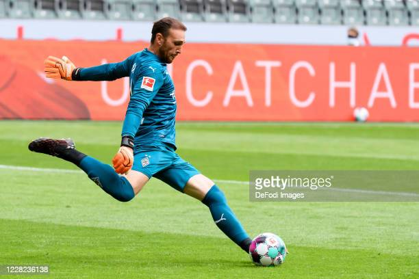 goalkeeper Tobias Sippel of Borussia Moenchengladbach controls the ball during the preseason friendly match between Borussia Monechengladbach and...