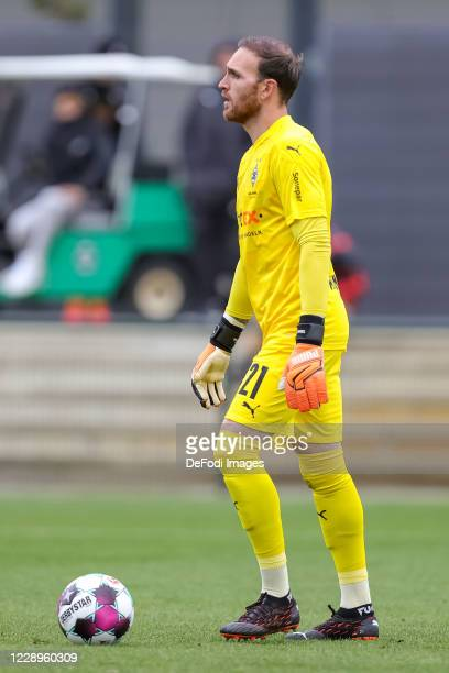 goalkeeper Tobias Sippel of Borussia Moenchengladbach controls the ball during the test match between Borussia Moenchengladbach and Fortuna...