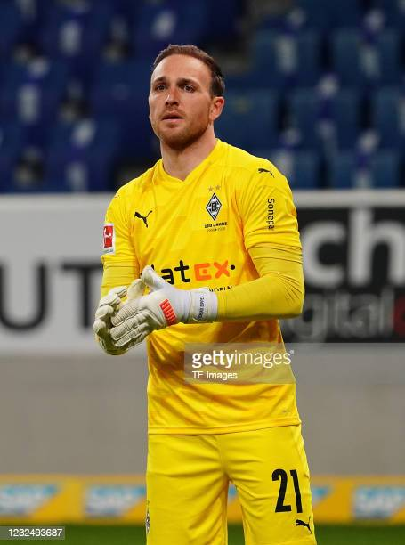 Goalkeeper Tobias Sippel of Borussia Moenchengladbach during the Bundesliga match between TSG Hoffenheim and Borussia Moenchengladbach at...