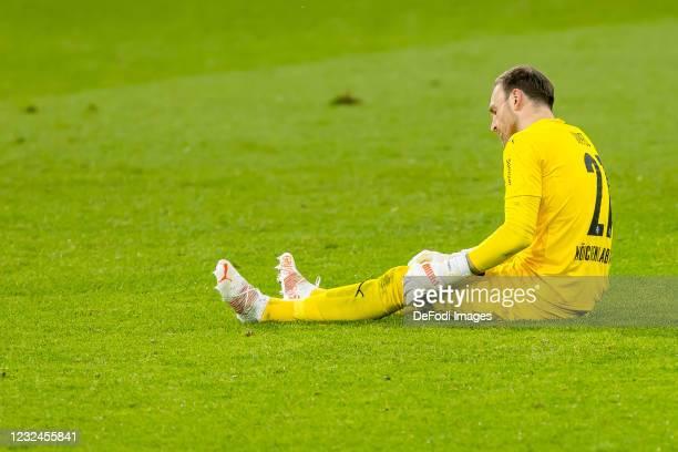 Goalkeeper Tobias Sippel of Borussia Moenchengladbach looks dejected during the Bundesliga match between TSG Hoffenheim and Borussia Moenchengladbach...