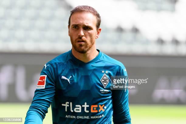 goalkeeper Tobias Sippel of Borussia Moenchengladbach looks on during the preseason friendly match between Borussia Monechengladbach and SpVGG Fuerth...
