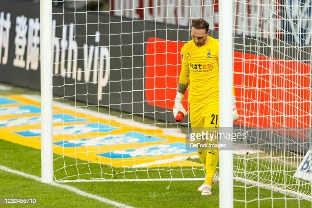 Goalkeeper Tobias Sippel of Borussia Moenchengladbach looks on during the Bundesliga match between TSG Hoffenheim and Borussia Moenchengladbach at...