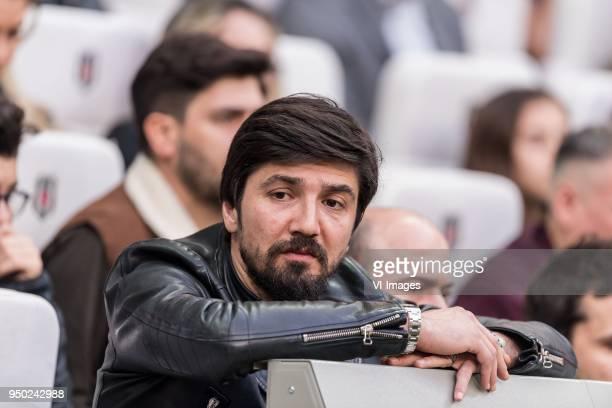 Goalkeeper Tolga Zengin of Besiktas JK during the Turkish Spor Toto Super Lig football match between Besiktas JK and Evkur Yeni Malatyaspor on April...