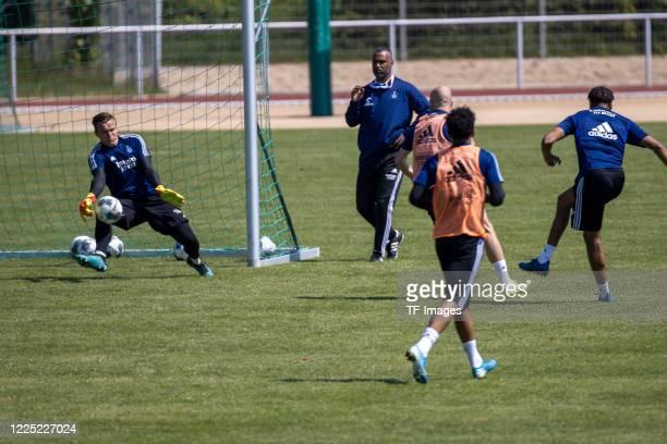 goalkeeper Tom Mickel of Hamburger SV during the training session of Hamburger SV on May 16 2020 in Herzogenaurach Germany
