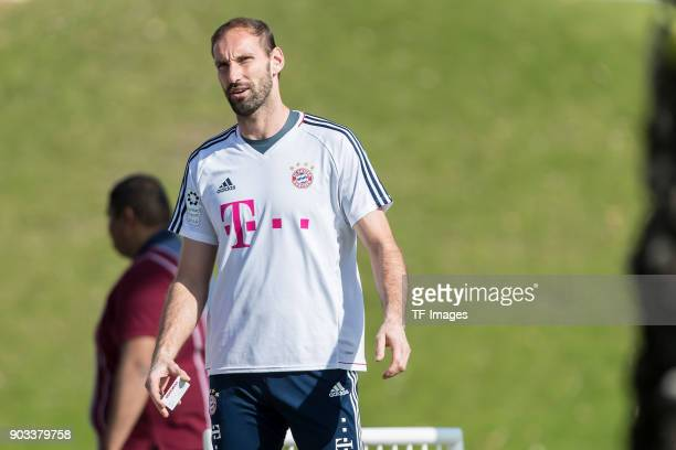 Goalkeeper Tom Starke of Muenchen looks on during the FC Bayern Muenchen training camp at Aspire Academy on January 06 2018 in Doha Qatar