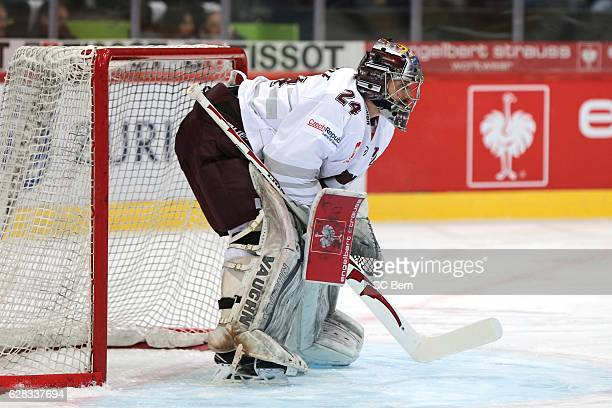Goalkeeper Tomas Popperle of Prague during the Champions Hockey League Quarter Final match between SC Bern and Sparta Prague at Postfinance Arena on...