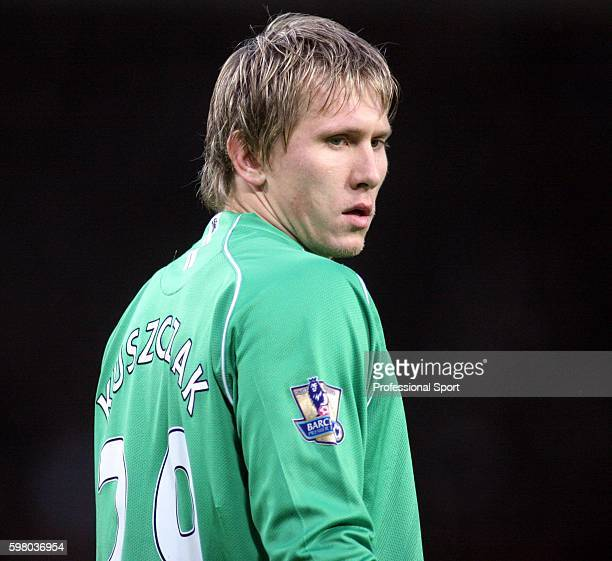 Goalkeeper Tomasz Kuszczak of Manchester United in action during the Barclays Premier League match between Manchester United and Birmingham City at...