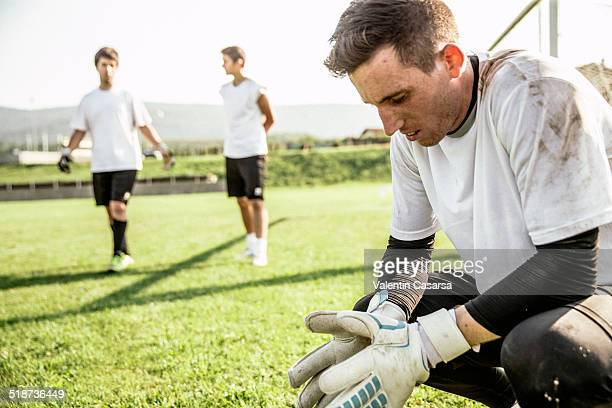 goalkeeper training - s'entraîner photos et images de collection