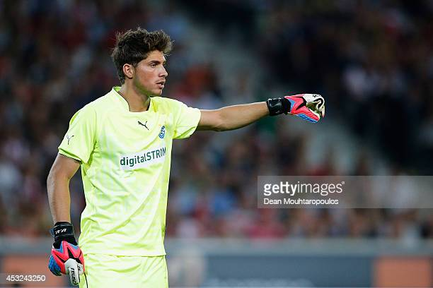 Goalkeeper Vaso Vasic of Grasshopper in action during the UEFA Champions League third qualifying round 2nd leg match between LOSC Lille and...