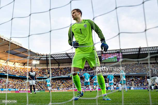 goalkeeper Vid Belec of Slovenia during the international friendly match between Sweden and Slovenia on May 30 2016 in Malmo Sweden