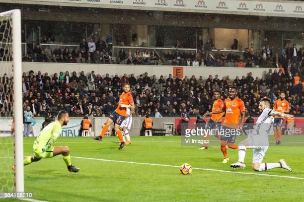 goalkeeper Volkan Babacan of Istanbul Medipol Basaksehir FK Manuel da Costa of Istanbul Medipol Basaksehir FK Eljero George Rinaldo Elia of Istanbul...