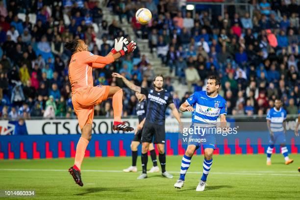 goalkeeper Warner Hahn sc Heerenveen Dave Bulthuis of sc Heerenveen Dirk Marcellis of PEC Zwolle during the Dutch Eredivisie match between PEC Zwolle...