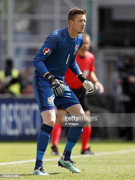 goalkeeper Wayne Hennessey of Wales during the Euro group stage match between England and Wales at the Stade BollaertDelelis on june 16 2016 in Lens...