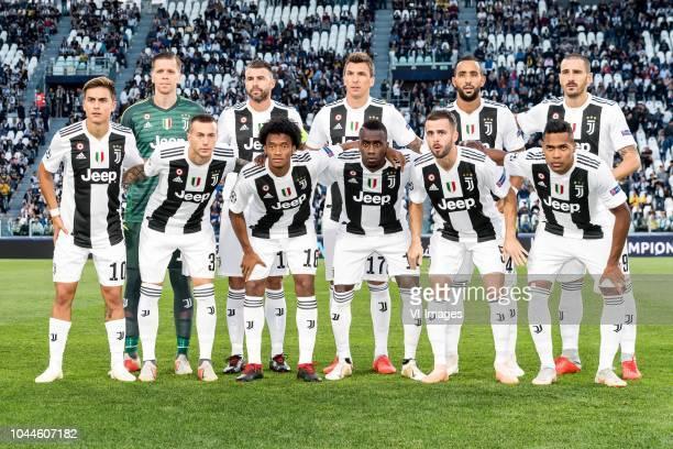 goalkeeper Wojciech Szczesny of Juventus FC Andrea Barzagli of Juventus FC Mario Mandukic of Juventus FC Mehdi Benatia of Juventus FC Leonardo...