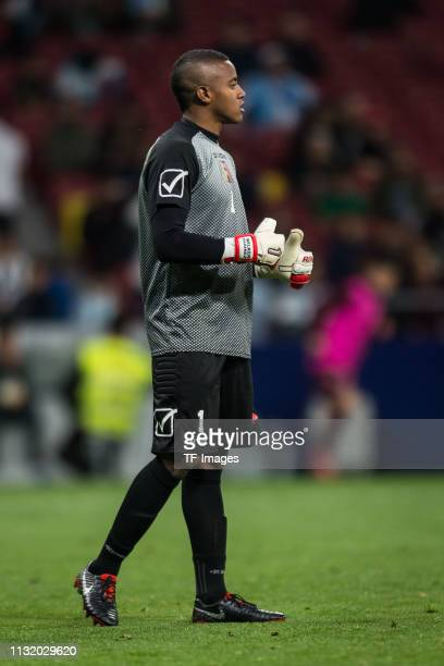 Goalkeeper Wuilker Farinez of Venezuela looks on during the International Friendly match between Argentina and Venezuela at Estadio Wanda...