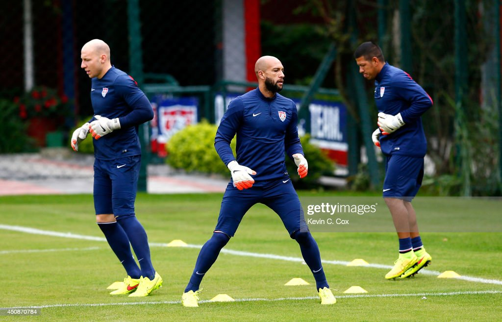 USA Training & Press Conference - 2014 FIFA World Cup : News Photo