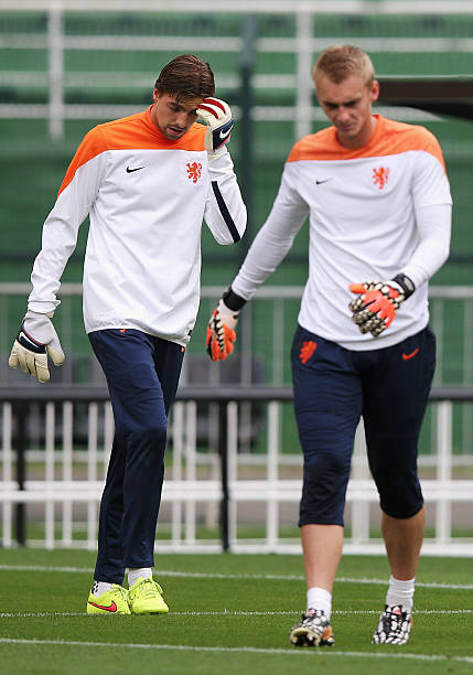 BRA: Netherlands Training and Press Conference - 2014 FIFA World Cup Brazil