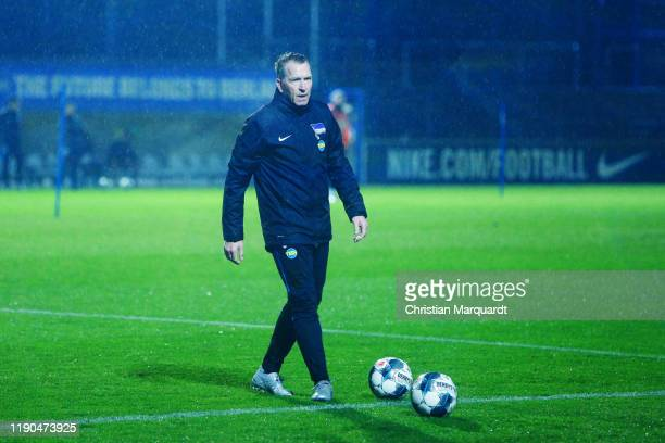 Goalkeepertrainer Andreas Köpke runs ont the lawn during a training session on November 27 2019 in Berlin Germany