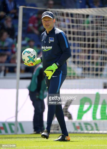 goalkeepertrainer Zsolt Petry of Hertha BSC before the Bundesliga game between Hannover 96 and Hertha BSC at HDI Arena on May 5 2018 in Hannover...