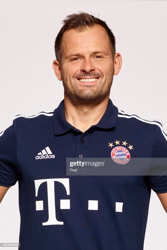 Goalkeeping coach Toni Tapalovic of FC Bayern Muenchen poses during the team presentation at Allianz Arena on August 8, 2017 in Munich, Germany.