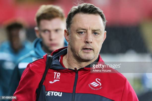 Goalkeeping coach Tony Roberts arrives prior to the game during The Emirates FA Cup match between Swansea City and Notts County at The Liberty...