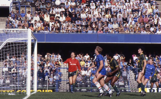 Goalmouth action taken during the Canon League Division One match between Chelsea and Leicester City held on September 29, 1984 at Stamford Bridge,...