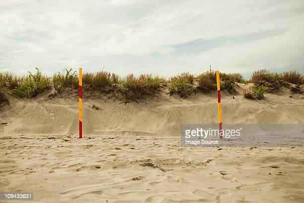 Goalpost on beach