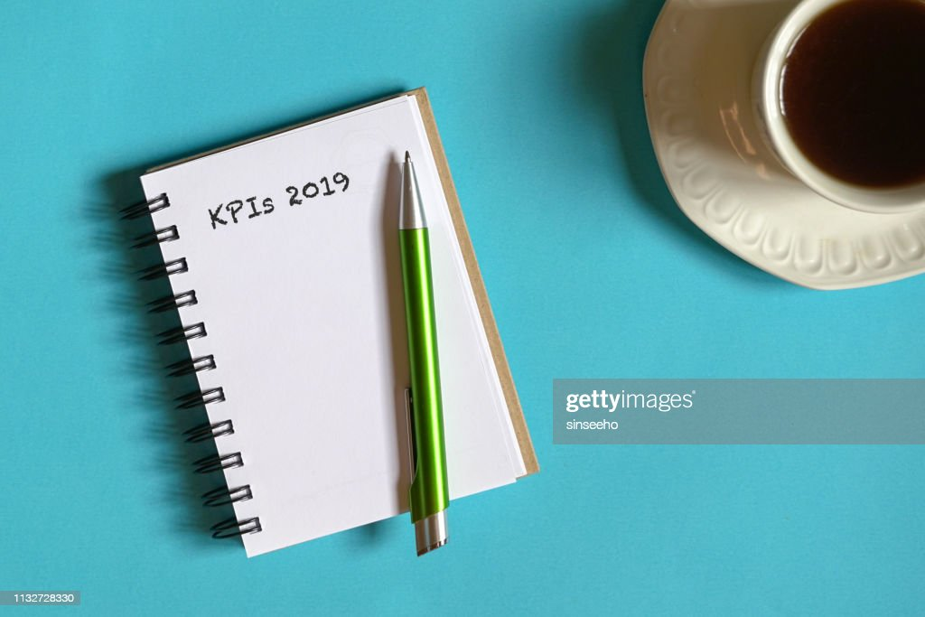 2019 goals or KPIs listing : Stock Photo