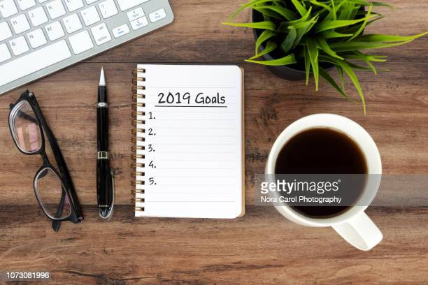 2019 goals - 2019 stock pictures, royalty-free photos & images