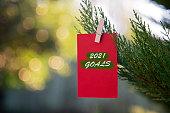 goals message hanging pine tree branch