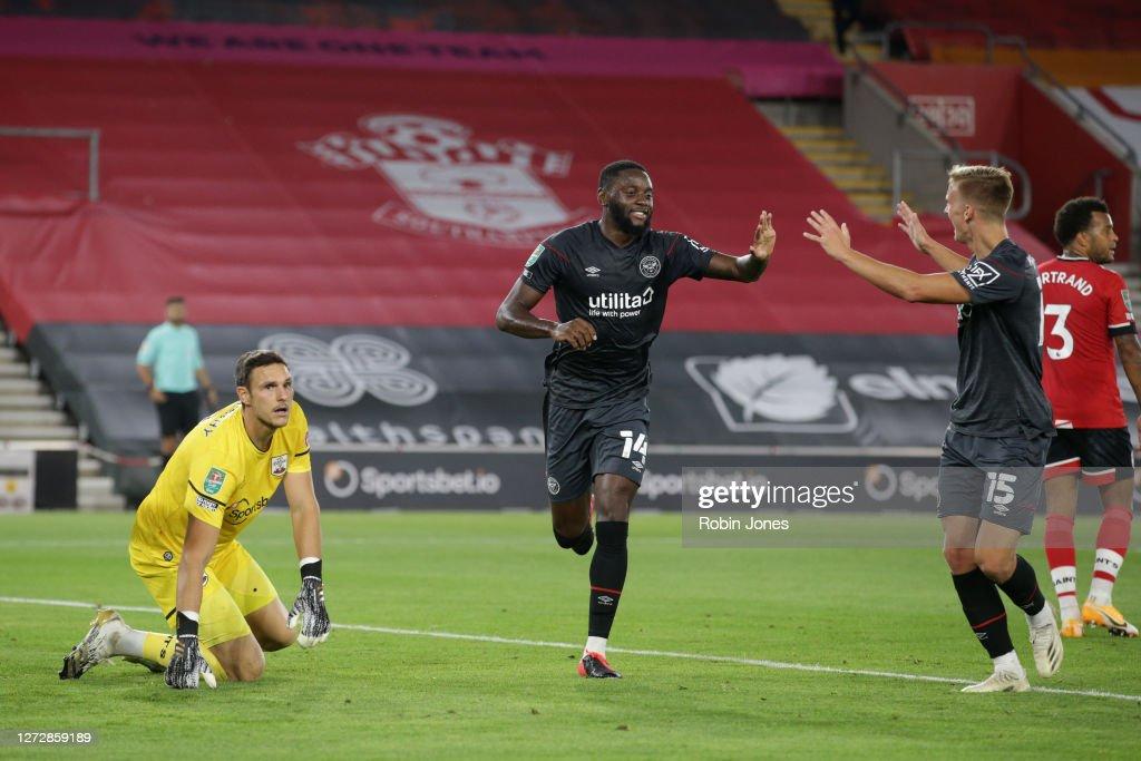 Southampton v Brentford - Carabao Cup Second Round : News Photo