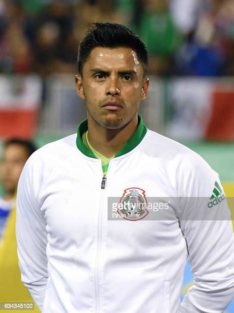 Goaltender Alfredo Talavera of Mexico stands on the field before the team's exhibition game against Iceland at Sam Boyd Stadium on February 8 2017 in...