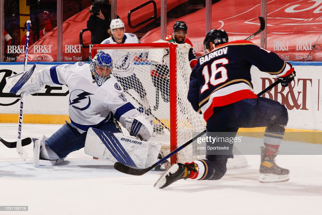 NHL: FEB 13 Lightning at Panthers : News Photo