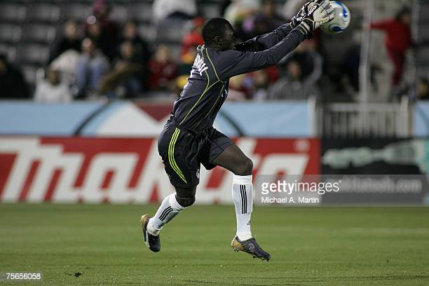Goaltender Bouna Coundoul of the Colorado Rapids during the annual Burgundy and Blue scrimmage April 4, 2007 at Dick?s Sporting Goods Park in Denver,...