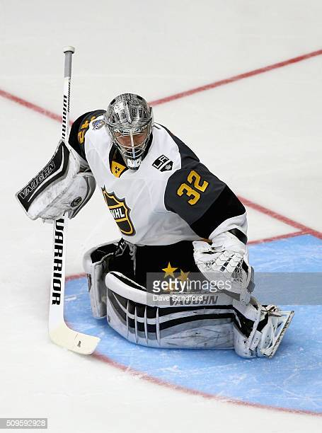 Goaltender Jonathan Quick of the Los Angeles Kings plays during the Western Conference Semifinal Game between the Pacific Division and the Central...