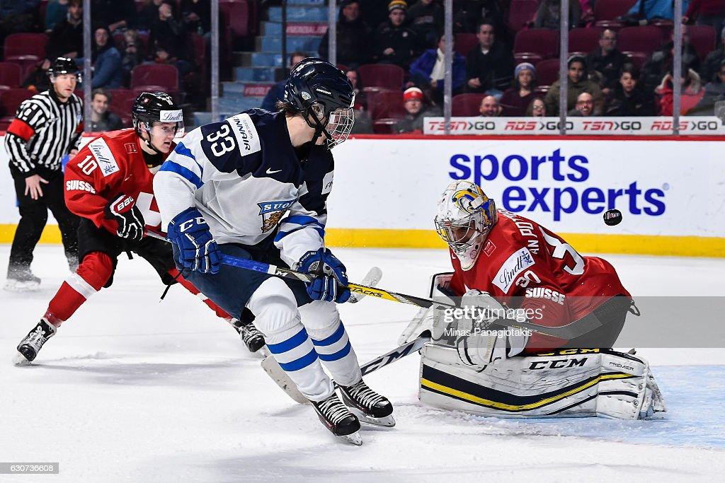 Finland v Switzerland - 2017 IIHF World Junior Championship : News Photo