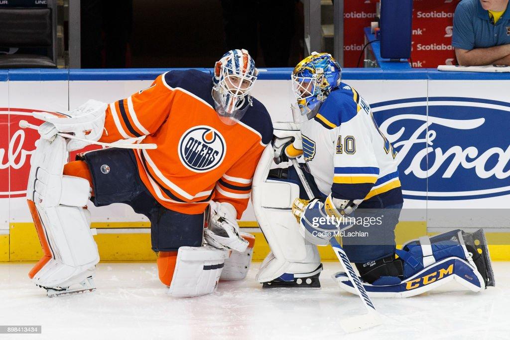 St Louis Blues v Edmonton Oilers