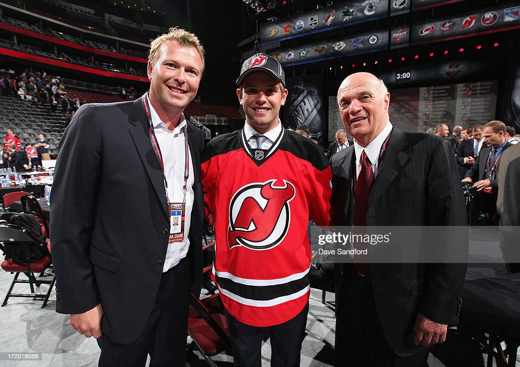 Goaltender Martin Brodeur Of The New Jersey Devils His Son Anthony