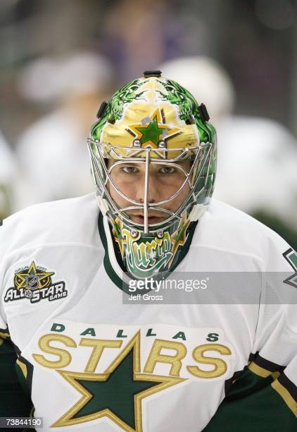 Goaltender Marty Turco of the Dallas Stars looks on before the game against the Los Angeles Kings at Staples Center on March 21 2007 in Los Angeles...