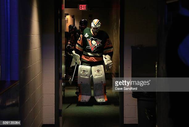 Goaltender Matt Murray of the Pittsburgh Penguins walks down the hall to play in Game 5 of the 2016 NHL Stanley Cup Final against the San Jose Sharks...