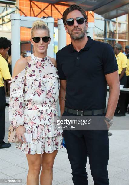 NHL goaltender of New York Rangers Henrik Lundqvist and his wife Therese Andersson attend day 2 of the 2018 tennis US Open at Arthur Ashe stadium of...