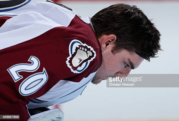 Goaltender Reto Berra of the Colorado Avalanche before the NHL game against the Arizona Coyotes at Gila River Arena on November 25 2014 in Glendale...