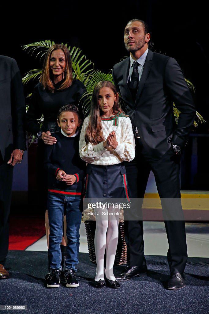 Goaltender Roberto Luongo And His Family During A Commemoration